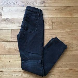 Loft velvet smoked grey curvy skinny pants